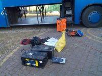 Zimowe wyposażenie autokaru