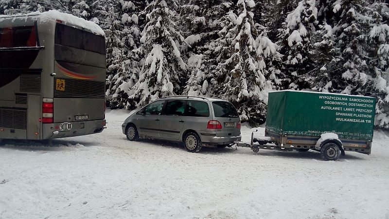 przyczepka autokarowa sprzęt narciarski